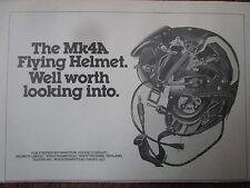 11/1982 PUB HELMETS LIMITED CASQUE AVIATION HELMET MK4A ORIGINAL AD