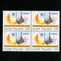 Finland Stamps # 679-80 VF Block 4 OG NH Scott Value $44.00