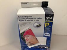 "Sony SVM-F120P 4x6"" Color Print Pack DPP-F Series. Not 100% Complete"