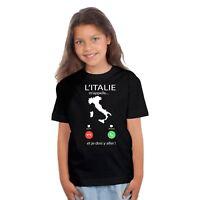 T-shirt ENFANT FILLE L'ITALIE M'APPELLE...