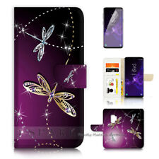 ( For Samsung S9 ) Wallet Case Cover P40232 Dragonfly Beautiful