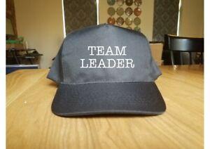 Printed Baseball Cap TEAM LEADER Sport Hat Construction IT Job Caps New Gift