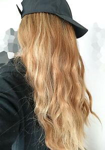 70 cm viel Volumen Wig Perücke Alltag Ombre rotblond Strähnen gewellt Cosplay