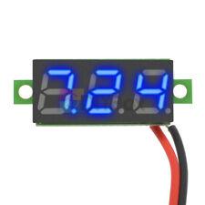 """0.28"""" 2 Wire Mini Blue DC3-30V LED Panel Voltage Meter Display Digital Voltmeter"""