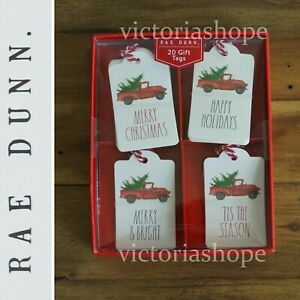 Rae Dunn 20 Gift Tags Truck CHRISTMAS/HAPPY HOLIDAYS/MERRY&BRIGHT/TIS THE SEASON