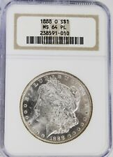 1888 O Morgan Silver Dollar...NGC MS 64 PL..Blast White, PROOF LIKE...No Reserve
