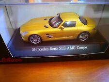 MERCEDES BENZ SLS AMG COUPE' GOLD METALLIC SCHUCO 1 43 1/43