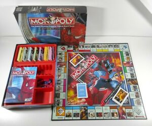 Spiderman Monopoly Parker Brothers, Marvel Board Game Checked 99% Complete Fun