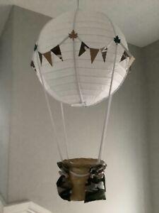 Jungle animal themed  hot air balloon nursery Decoration/ light shade,
