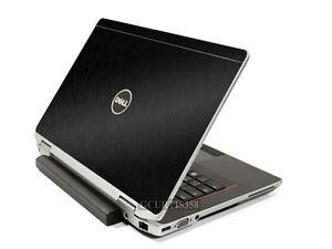 BLACK BRUSHED TEXTURED Vinyl Lid Skin Cover fits Dell Latitude E6420 Laptop