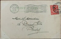 Antique Postcard with King George V One Penny Stamp posted from Paisley Jan 1928