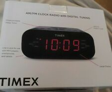 Timex AM/FM Clock Radio Dual Alarm Speaker MP3 Line-in Smart Device Ready Tuner