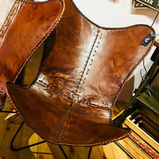 HANDMADE RUSTIC VINTAGE TEN BUFFALO LEATHER INDOOR OUTDOOR CHAIR BUTTERFLY CHAIR