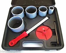 8pc ATE PRO PROFESSIONAL TUNGSTEN CARBIDE GRIT HOLE SAW SET 1-5/16 - 3-1/4 32015