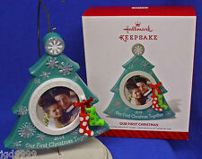 Hallmark Photo Holder Ornament Our First Christmas Together 2014 Tree Frame NIB
