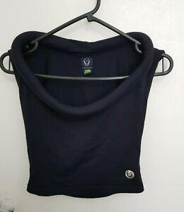 CYBERDOG Orbit Vest Cropped, Black One Size. Cyber, goth, club, alternative