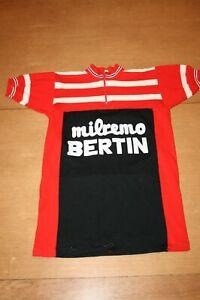 VINTAGE MAILLOT DE CYCLISTE MILREMO BERTIN CYCLING SHIRT JERSEY TRIKOT EROICA
