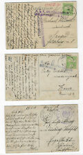 AUSTRIA HUNGARY 3 MILITARY POSTCARDS FROM JEWISH FAMILY ARCHIVE - WWI