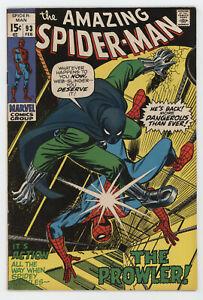 Amazing Spider-Man 93 Marvel 1971 FN Gwen Stacy Prowler Stan Lee John Romita