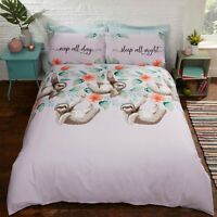 SIMPLY SLOTH Animal Print Novelty Duvet Cover/Quilt Cover Set Bedding Bed Linen