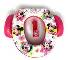 Disney Minnie Mouse Soft Potty Toilet Seat with Door Hanger New