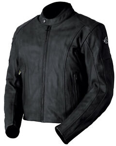 New AGVsport Canyon Perforated Leather Motorcycle Jacket CE Armour Vented Black