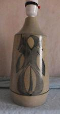 1970s Retro - Large Abstract Honiton Devon Pottery Lamp Base - Blue Pattern
