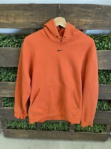 Nike Center Swoosh Check T. Scott Vintage Orange Hoodie Size Large