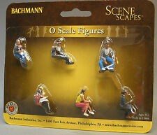 BACHMANN O GAUGE SEATED PLATFORM PASSENGERS figures people train bench 33161 NEW