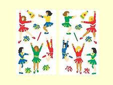 12 Cheerleading Sticker Sheetlets - 132 STICKERS IN ALL