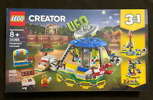 LEGO Creator Fairground Carousel 31095 3 in 1 House Retired NEW