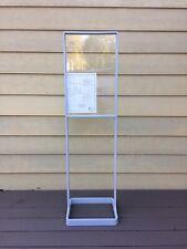 Floor Standing Sign Holder. New In Box 14�x22� Display Window, Light Gray.