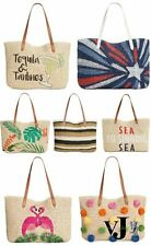 I.N.C. Beach, Summer, Vacation Tropical Straw Tote, Various Styles