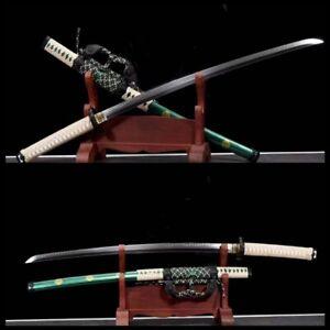 Japanese samurai katana sword Tachi fittings Sharp Clay Tempered T10 Steel blade