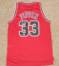SCOTTIE PIPPEN SIGNED AUTOGRAPHED CHICAGO BULLS ADIDAS SWINGMAN RED #33 JERSEY