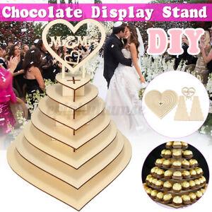 Mr&Mrs Herz Baum Hochzeit Display Stand Herzstück Schokolade Ferrero Rocher Holz