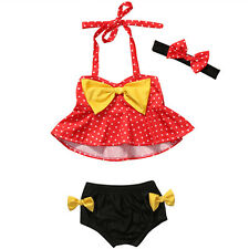 1-2T 3Pcs Toddler Kid Baby Girl Swimsuit Swimwear Bathing Suit Tankini Bikini 03