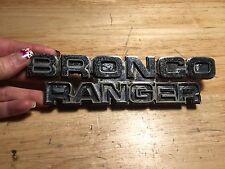 78 79 Ford Bronco Ranger Emblem Metal Fender OEM