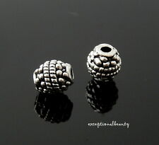 50 Tibetan Antiqued Silver 8mm Dotted Rope Design Oval Spacer Accent Beads