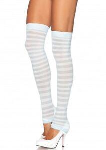 Opaque striped leg warmers One Size LA3908