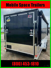 2021 Covered Wagon Trailers 7X20 BK Fin AC Electric Pkg Awn Ramp Door New