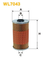 Wix WL7043 Car Oil Filter - Cartridge - Metal Ends Replaces H9381 CH5565 OX96