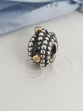 Authentic Pandora Entangled Beauty Two Tone Charm With Diamonds 790277D Retired