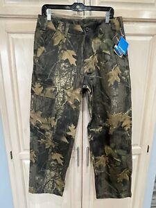New Camo Large Pants 34x30 Columbia PHG Timberwolf