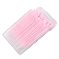 Pink 150pcs 2 way Oral Dental Picks Tooth Pick Interdental Brush Oral Clinic