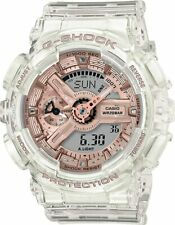 New Casio G-Shock Transparent Rose Dial Women's Watch GMAS110SR-7A