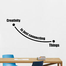 Steve Jobs Quote Wall Decal Creativity Office Vinyl Sticker Work Art Decor 60quo