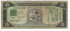 LIBERIA $5 Dollars VF Banknote (1991) P-20 Prefix AM Paper Money