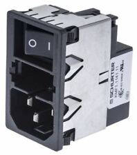 Male C14 IEC Filter Snap-In Dual 5 x 20mm,Rated At 4A,250 V ac Operating Frequen