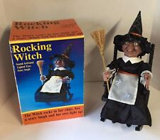 Gemmy Animated Witch Rocking Chair Cackling Light Up Eyes Halloween Decor in Box